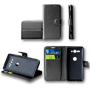 För Sony Xperia XZ2 premium Pocket plånbok premium svart skyddande sleeve fodral cover fodral nya tillbehör