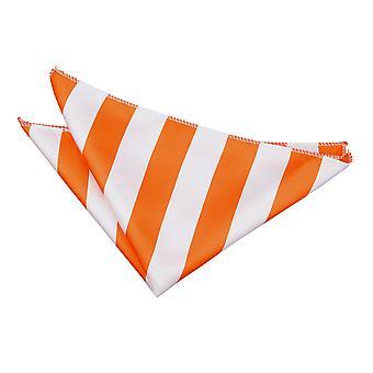 Orange / weiß gestreift Einstecktuch