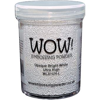 Wow! Embossing Powder 160Ml-Opaque Bright White Superfine