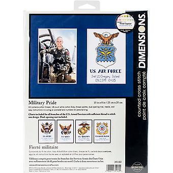 Military Pride Counted Cross Stitch Kit-10