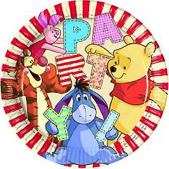 Winnie the Pooh Winnie Puuh Party Teller Ø 23 cm 8 Stück Kindergeburtstag Mottoparty
