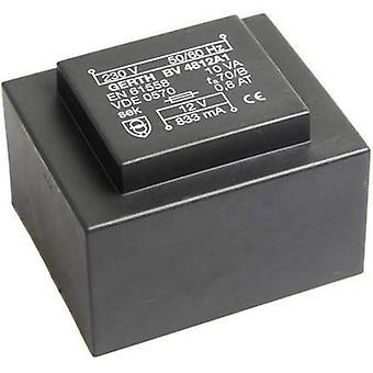 PCB de montaje transformador 1 x 230 V 1 x 24 V AC 10 VA 416 mA