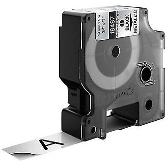 Etiquetado color de cinta poliester cinta DYMO IND RHINO 18762: fuente metálica color: negro 19 mm 5,5 m