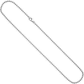Bola cadena collar plata cadena 925/s 2,5 mm collar de 90 cm