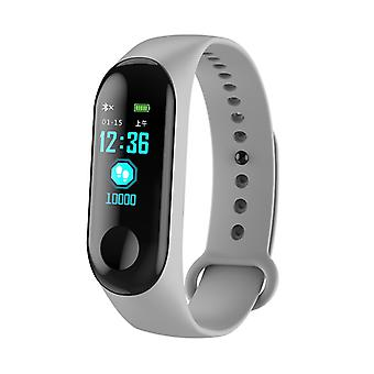 M3 Water Resistant Activity Bracelet With Color Monitor-Grey