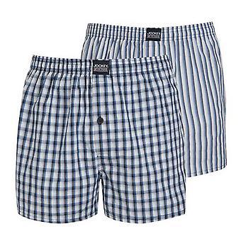 Jockey Mens Cotton Woven Boxer Short Underwear (Pack of 2)