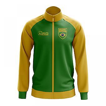 Brasil conceito futebol Track Jacket (verde) - crianças