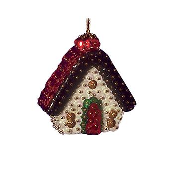 Pinflair Sequin & Pin Gingerbread House Christmas Baubles - Makes 2