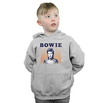 David Bowie gutter oransje striper Hettegenser