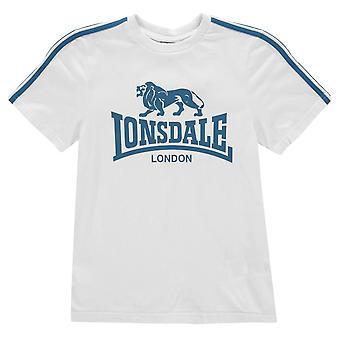 Lonsdale Kids pojkar Logo T Shirt Junior Crew Neck Tee Top Kortärmad