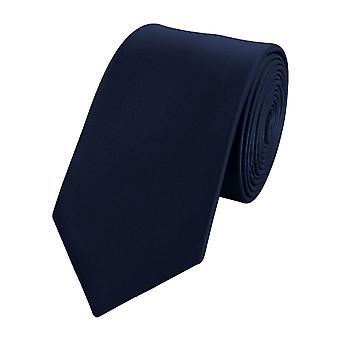 Zawiązać krawat krawat krawat wąski 6cm ciemny niebieski czarny Fabio Farini