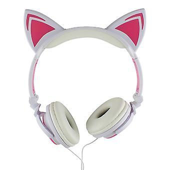 LED kattöron Headphones-White and Pink
