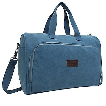 Blue Weekender bag or Holdall of durable fabric