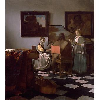 The Concert e tr, Johannes Vermeer, 69x63cm