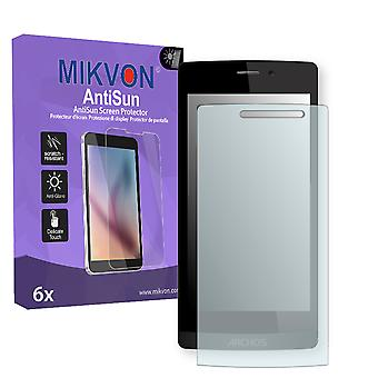 Archos 50 Diamond Screen Protector - Mikvon AntiSun (Retail Package with accessories)