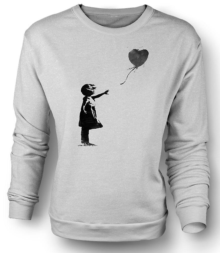 Mens Sweatshirt Graffiti Banksy Art - ballon