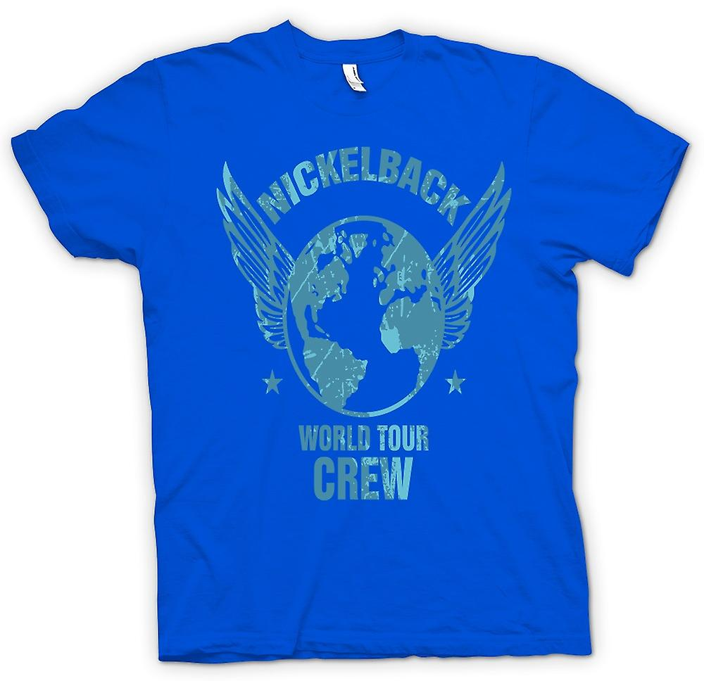Mens t-skjorte-Nickelback World Tour mannskap