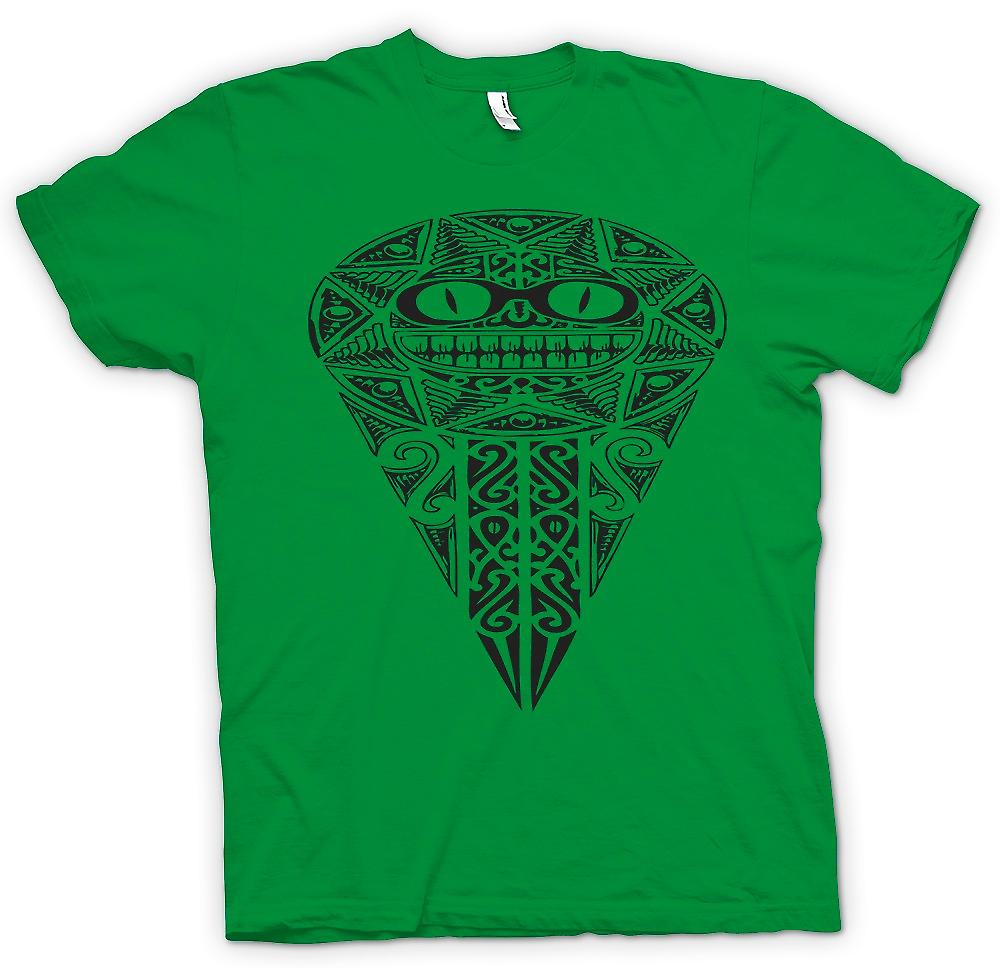 Herr T-shirt-Aztec Tribal War Design