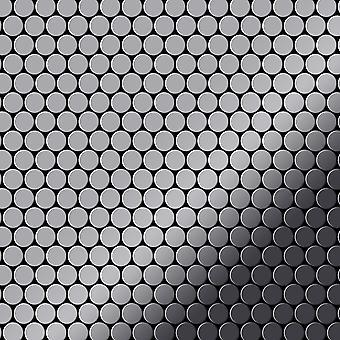 Metal mosaik rustfri LEGERING Penny-S-S-MM