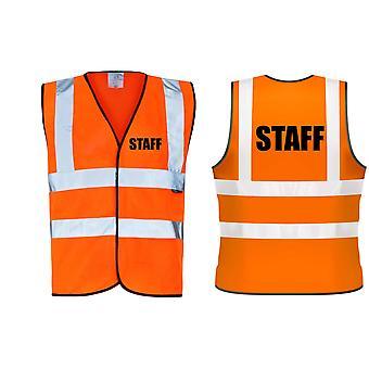 Hi Viz Orange Vis Vests Staff