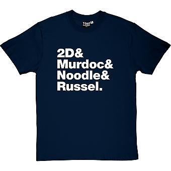 Gorillaz состав Мужская футболка