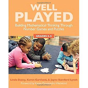 Well Played: Building Mathematical Thinking Through Number Games and Puzzles