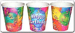 Birthday Jubilee Party Cups Pack Of 8