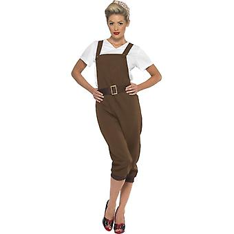 Womens WW2 Land Girl Fancy Dress Costume