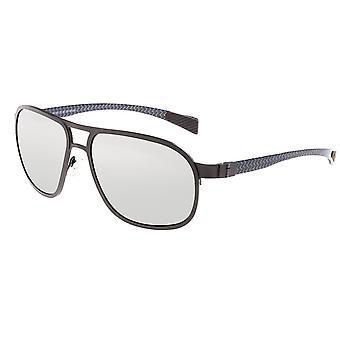 Breed Concorde Titanium and Carbon Fiber Polarized Sunglasses - Gunmetal/Silver