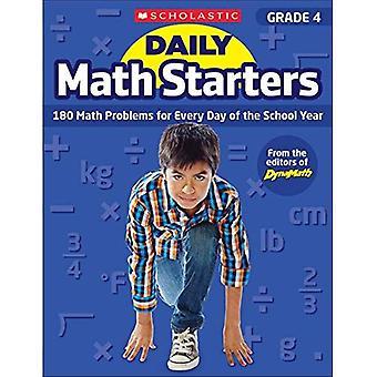 Dagelijkse Math Starters: Rang 4: 180 Math problemen voor elke dag van het schooljaar (dagelijkse Math Starters)