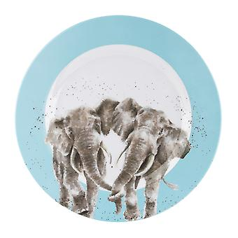 Wrendale Designs Elephant Single Melamine Dinner Plate