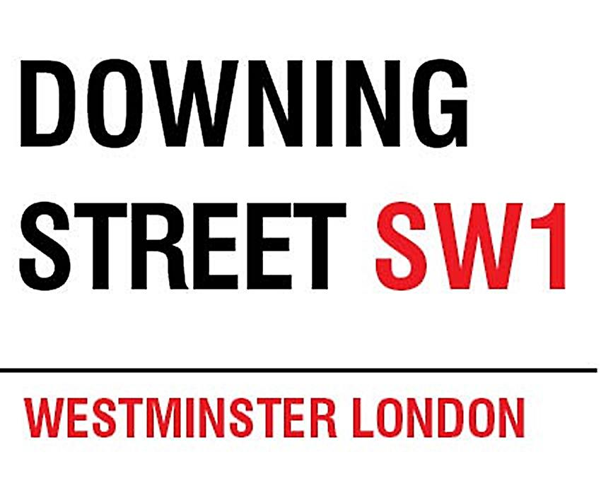 Downing Street, London small metal sign   (og 2015)