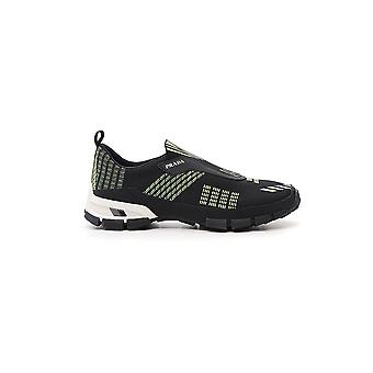 Prada Yellow/black Synthetic Fibers Sneakers