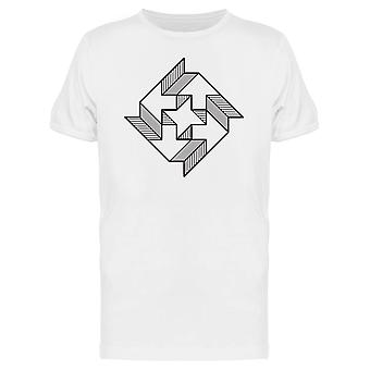 Pointing Lines Design Tee Men's -Image by Shutterstock