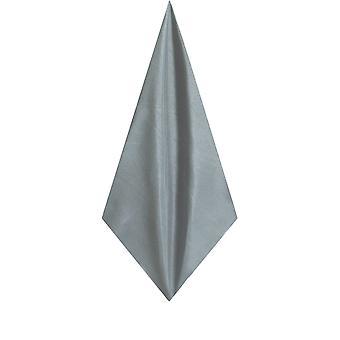 Dobell Mens Silver Pocket Square Handkerchief Dupion Satin-Feel Fabric