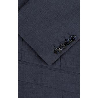 Dobell Mens Mississippi blå 2 Piece Suit Slim Fit Notch kavajslag