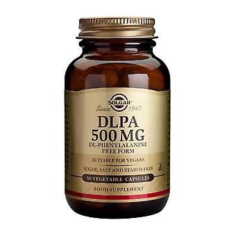 Solgar D.L.P.A. DL-Phenylalanine 500 mg Vegetable Capsules, 50