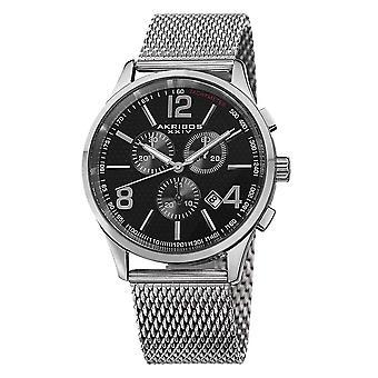 Akribos XXIV Men's Stainless Steel Mesh Bracelet Watch AK719SSB