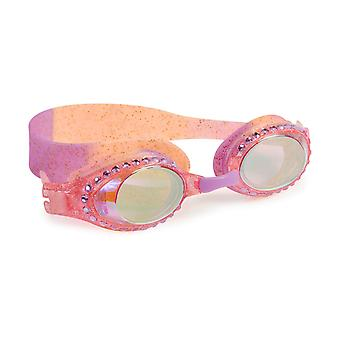 Girls gold and pink fun sparkly swimming goggles
