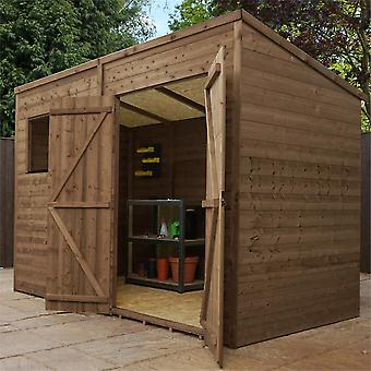 Mercia 10x5ft Pressure Treated FSC Timber Pent Roof Garden Shed with Double Doors