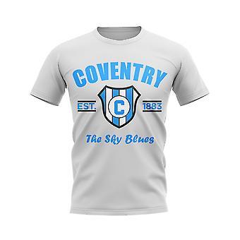 Camiseta de fútbol con sistema establecido por Coventry (blanco)
