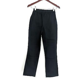 Denim & Co. Petite Leggings Stretch Boot Cut Black A01724