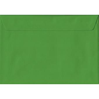 Fern Green Peel/Seal C5/A5 Coloured Green Envelopes. 100gsm FSC Sustainable Paper. 162mm x 229mm. Wallet Style Envelope.
