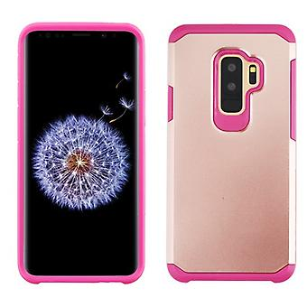 ASMYNA Rose Gold/Hot Pink Astronoot Phone Protector Cover  for Galaxy S9 Plus