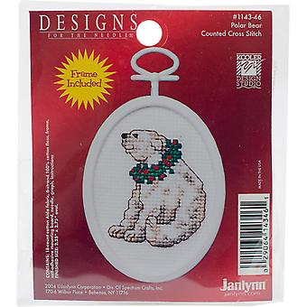 Polar Bear Mini Counted Cross Stitch Kit-2.75