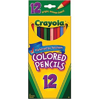 Crayola Colored Pencils 12 Pkg Long 68 4012