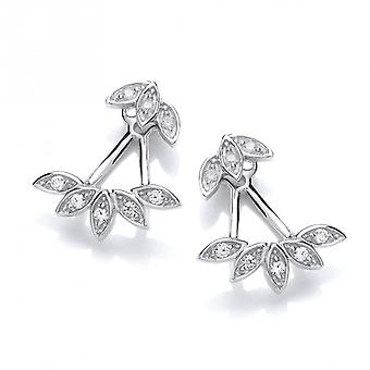 Cavendish French CZ Floral Cuff Earrings