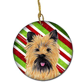 Cairn Terrier Candy Cane Holiday Christmas keramiske Ornament SC9335