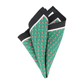 Pattern of society Toon handkerchief silk handkerchief Cavalier cloth Paisley Green Black