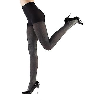 Night - shiny pantyhose ladies of shine look tights 100 THE silver black